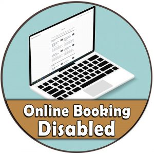 Disabled online booking
